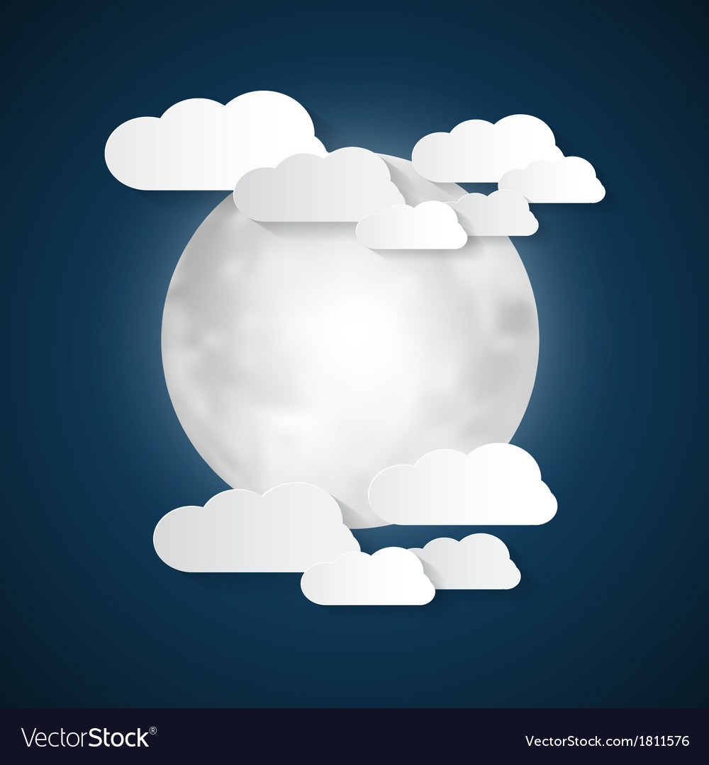 Abstract Moon and Clouds
