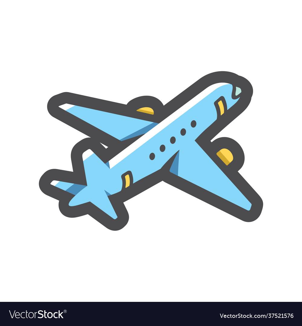 Airplane blue plane icon cartoon