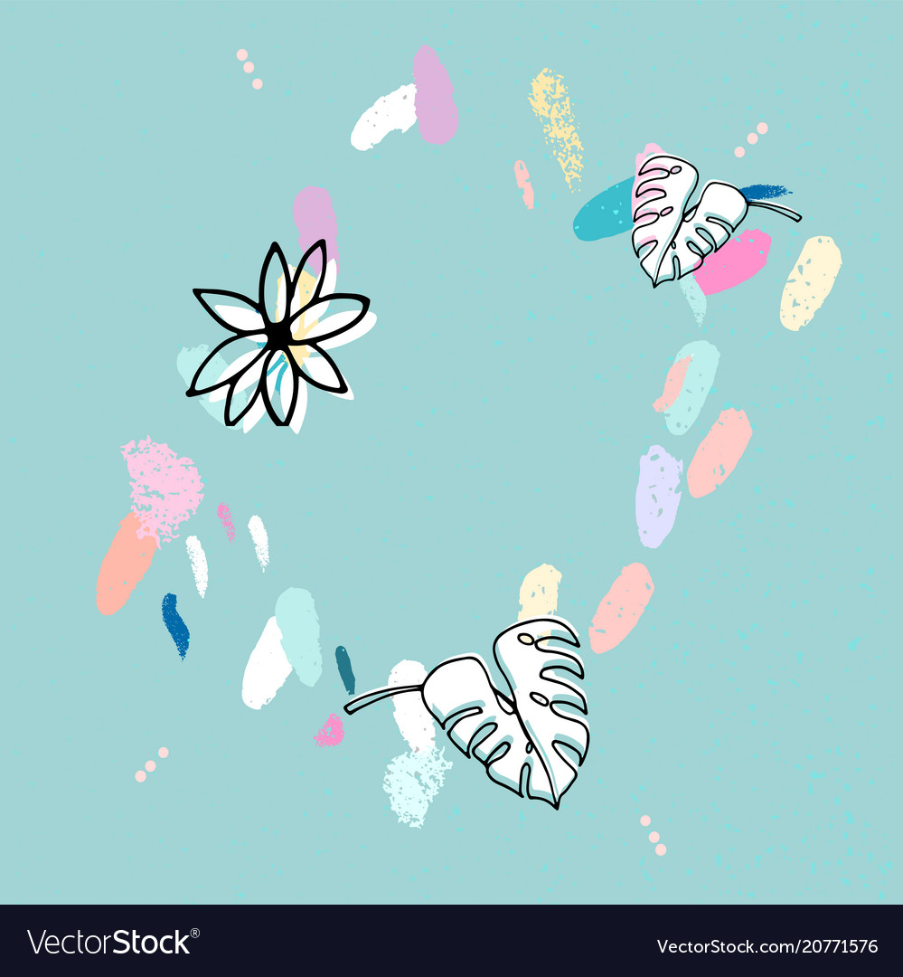 Artistic confetti pattern