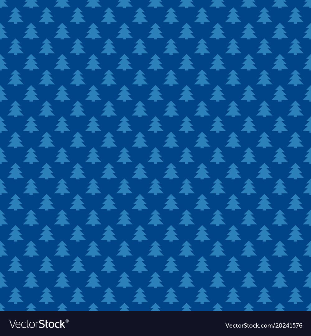 Blue repeating geometrical xmas tree pattern