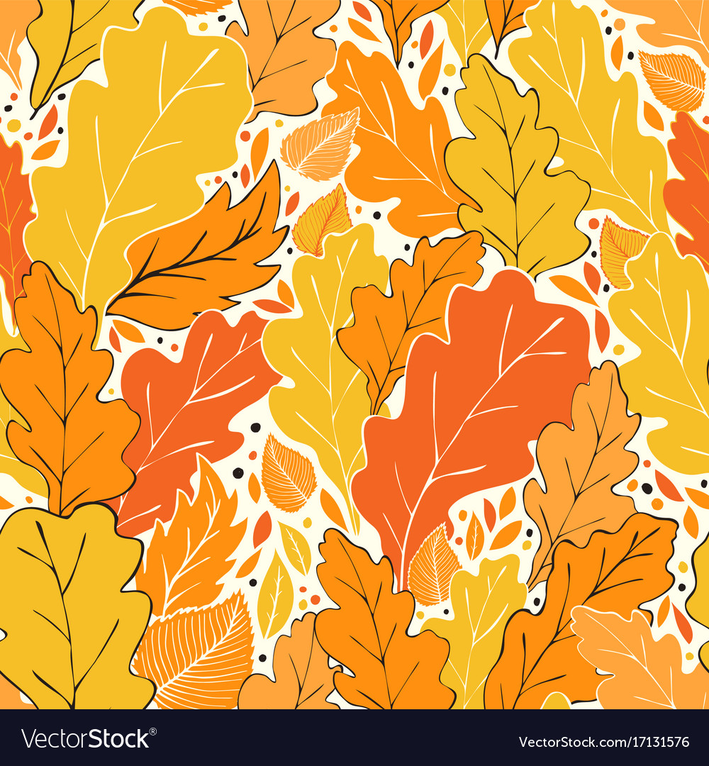 Hello fall pattern vector image