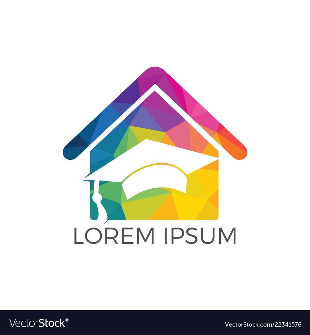House school education logo design