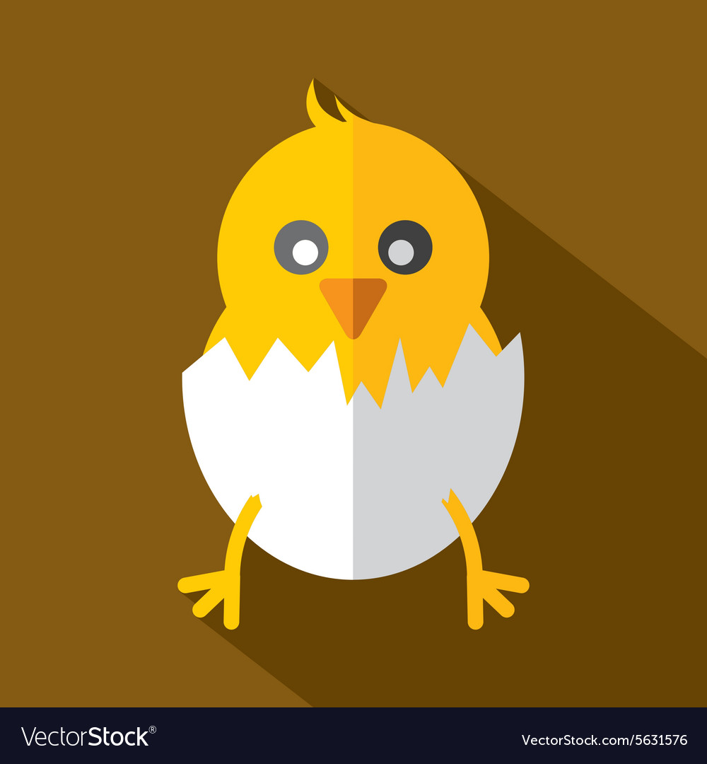 Modern Flat Design Chick Icon