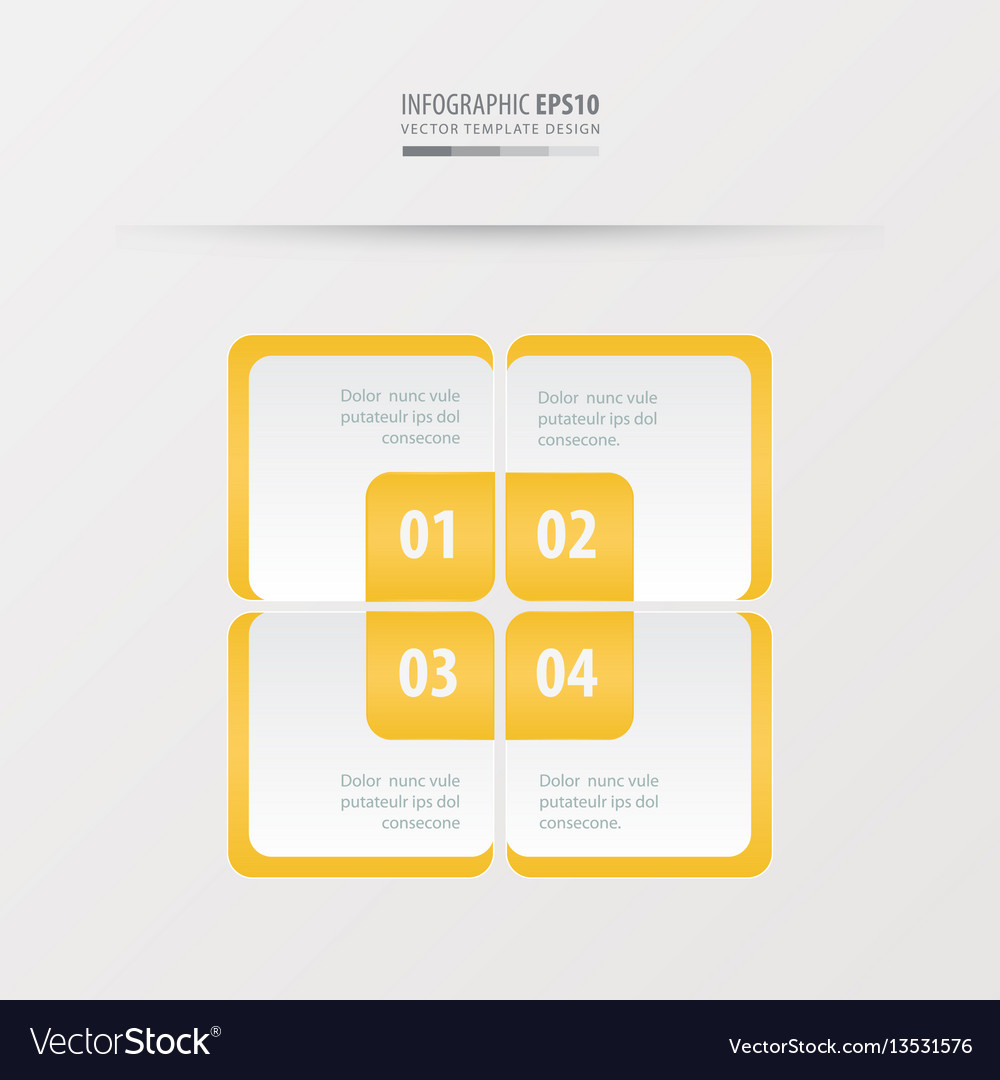 Rectangle presentation template yellow color