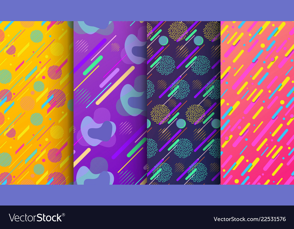 Set abstract seamless background available