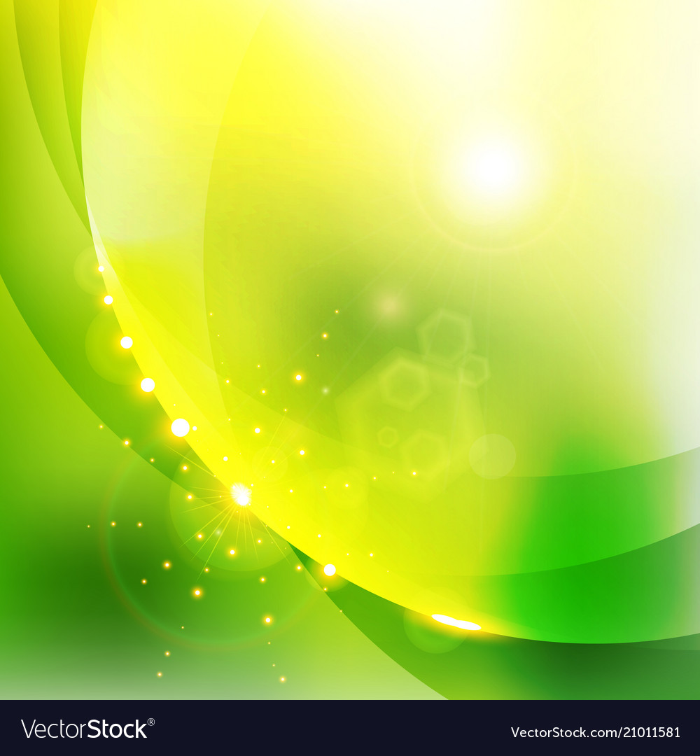Abstract shining nature green color background