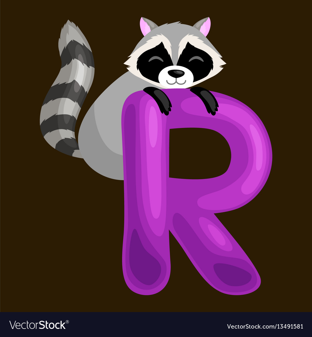 Animals alphabet for kids fish letter r cartoon
