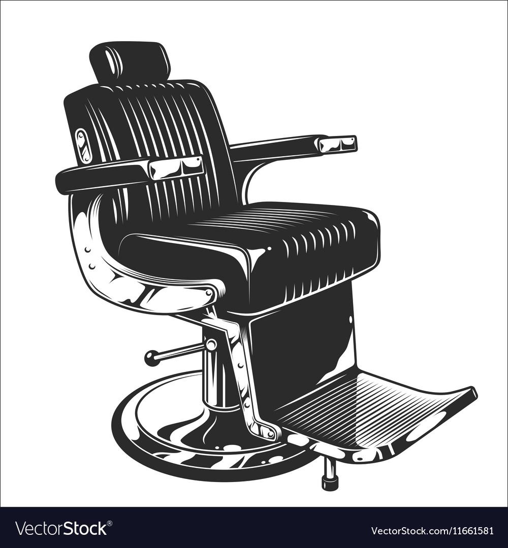 Bon Barbershop Chair Vector Image