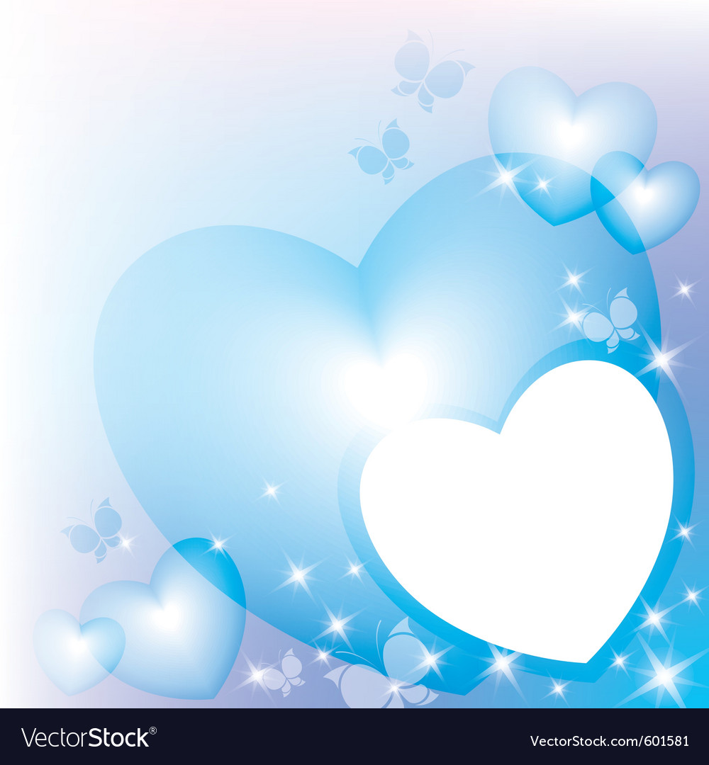 Blue hearts vector image