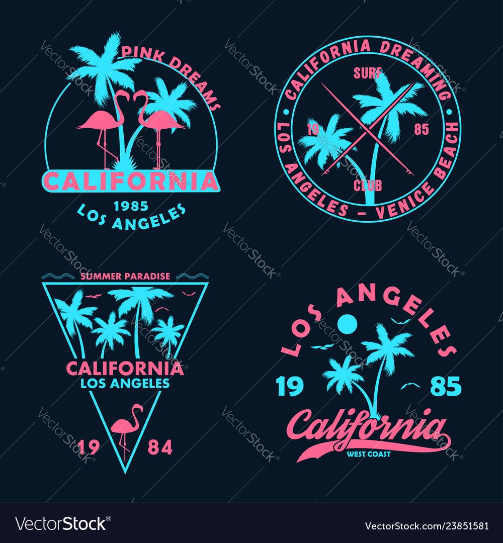 California badge set