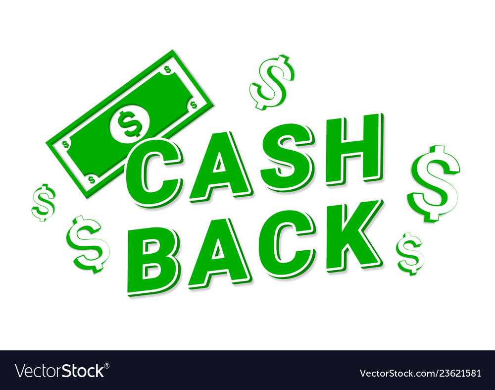 Cashback icon web on white background