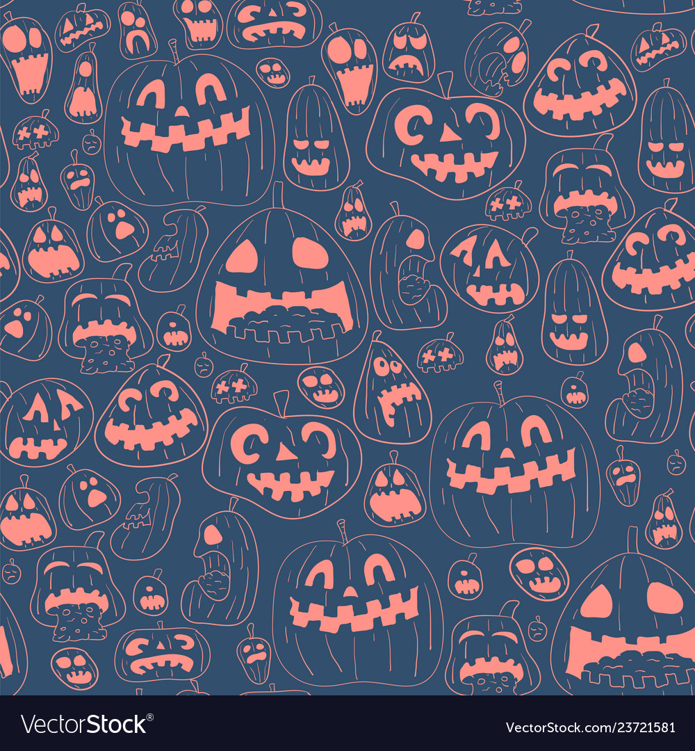 Cororful halloween design pattern
