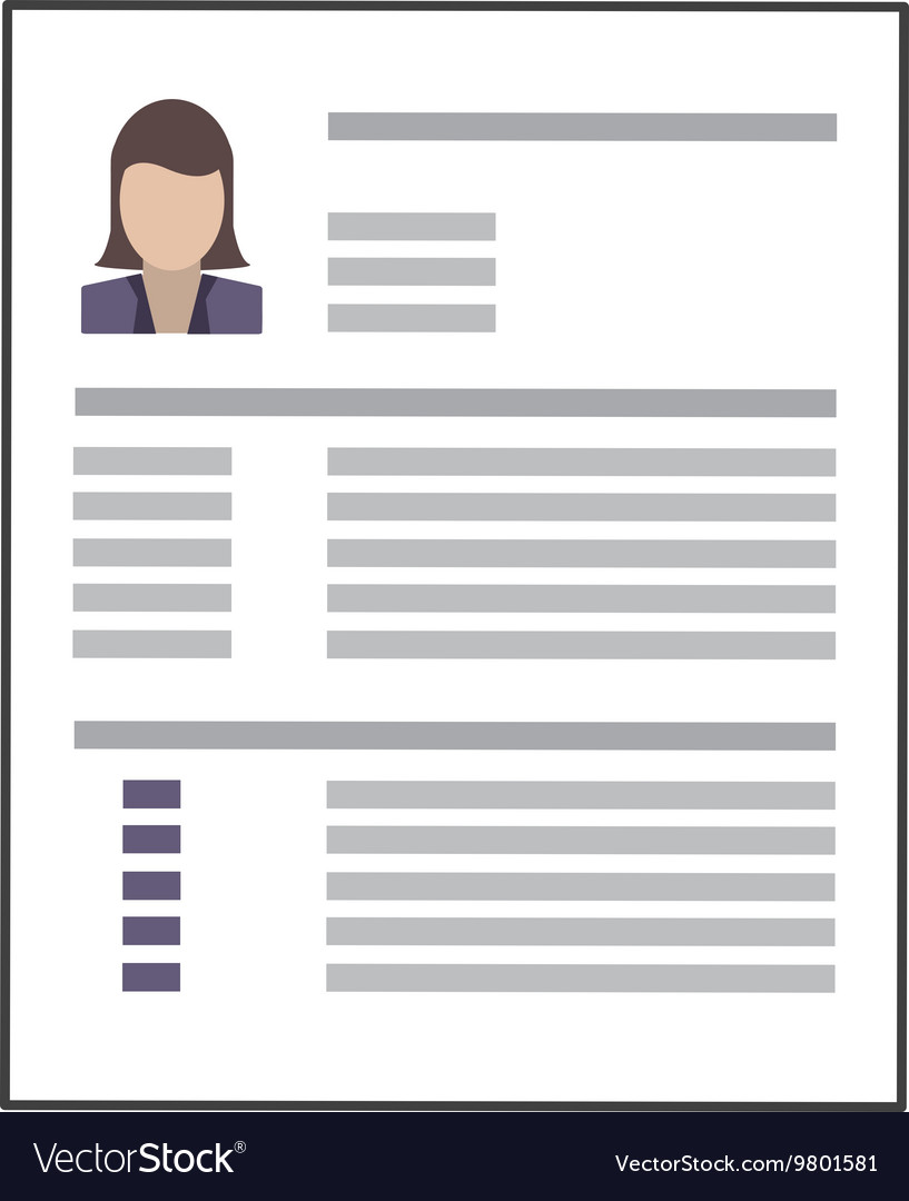 Curriculum Vitae Icon Royalty Free Vector Image