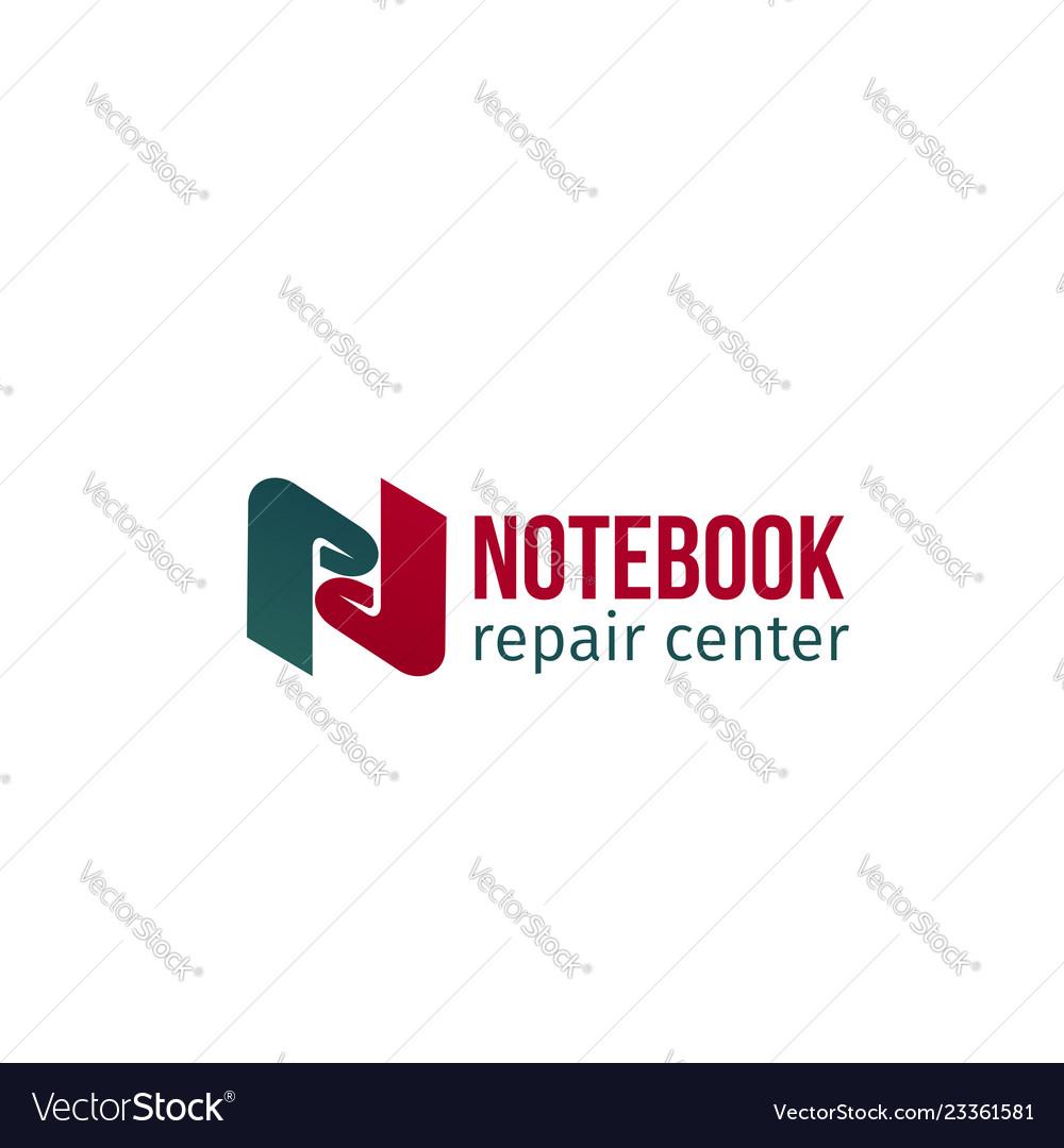 Notebook repair center badge