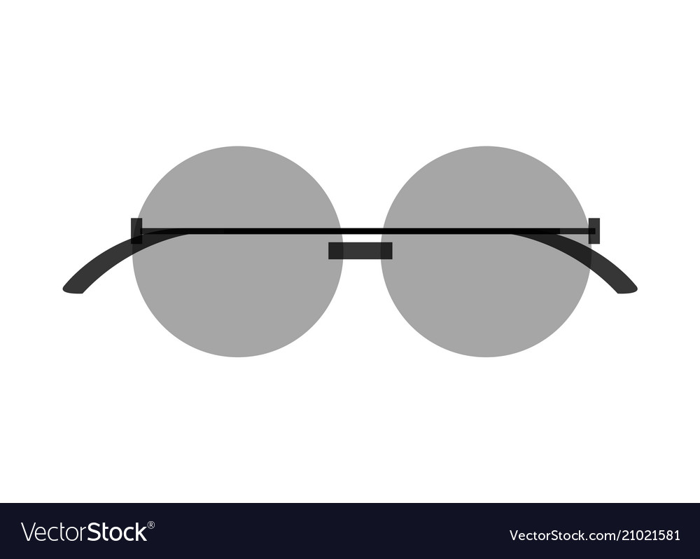 b5fa991e19ff8 Stylish round sunglasses with tinted black lenses Vector Image