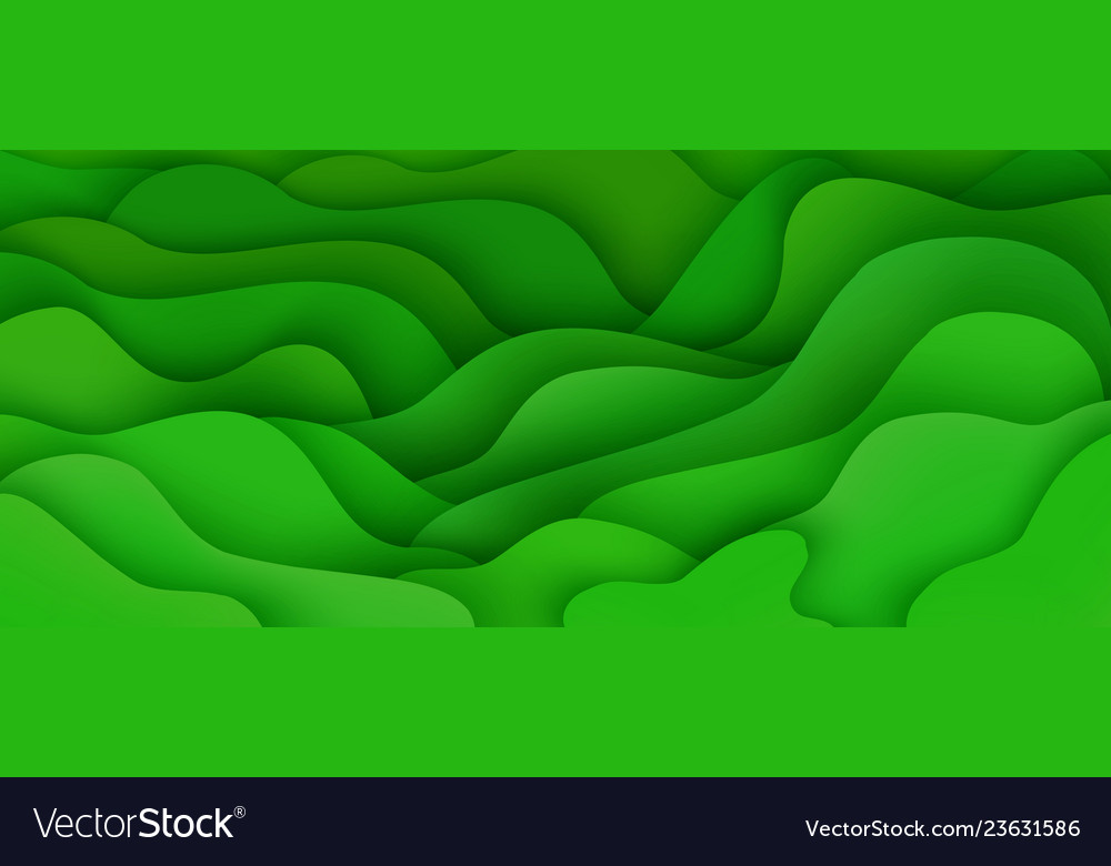 Abstract background with expressive green wave