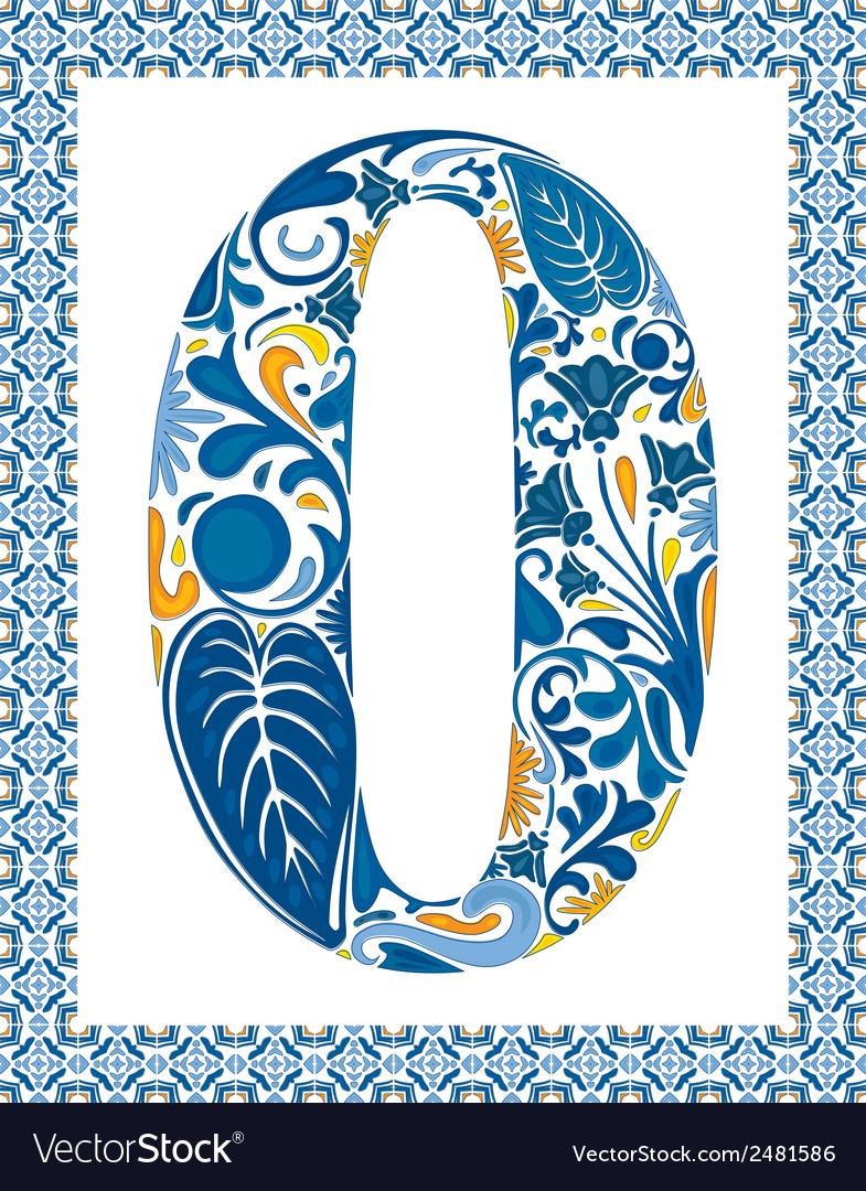 Blue number 0
