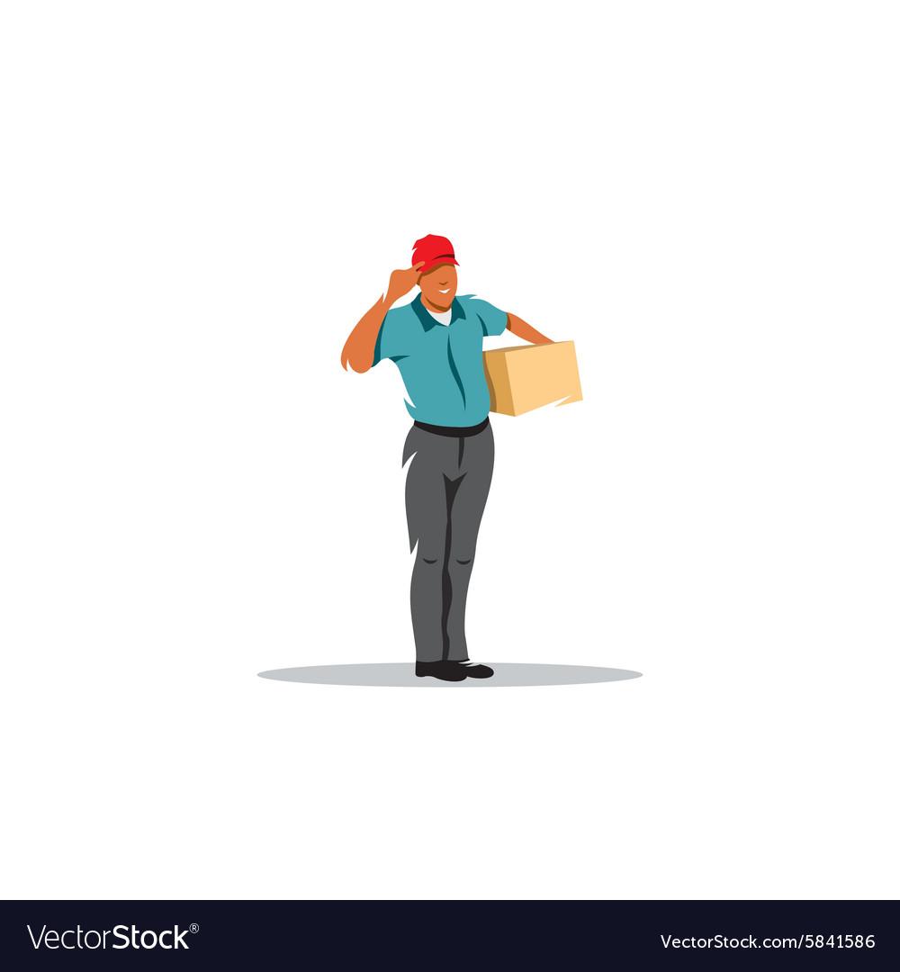 Courier service parcel post sign vector image