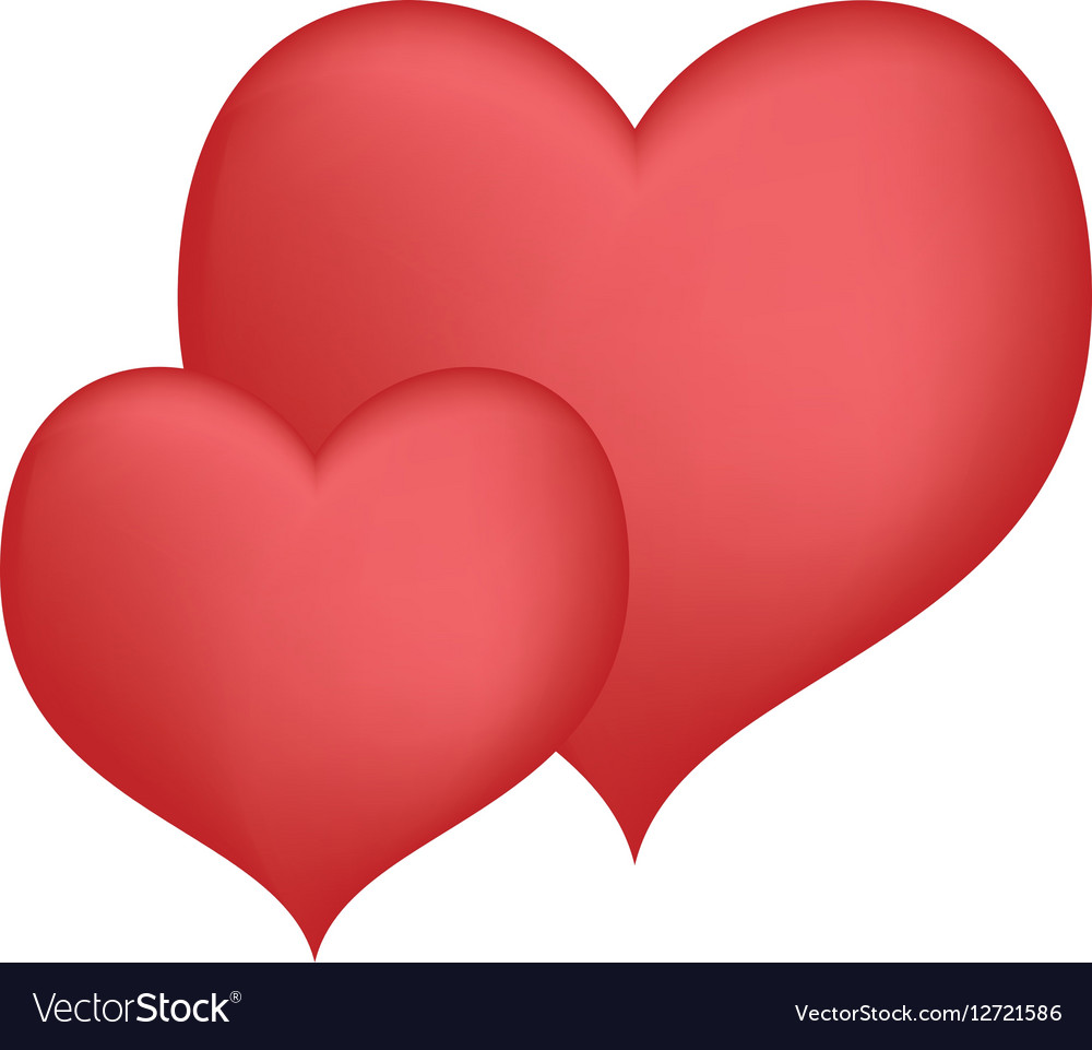 hearts love decorative art valentine day design vector image