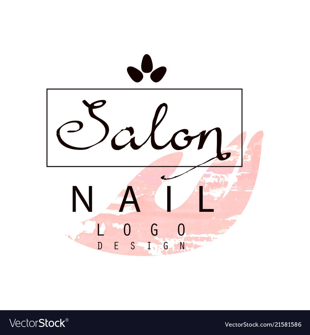 Nail salon logo design template for nail bar Vector Image