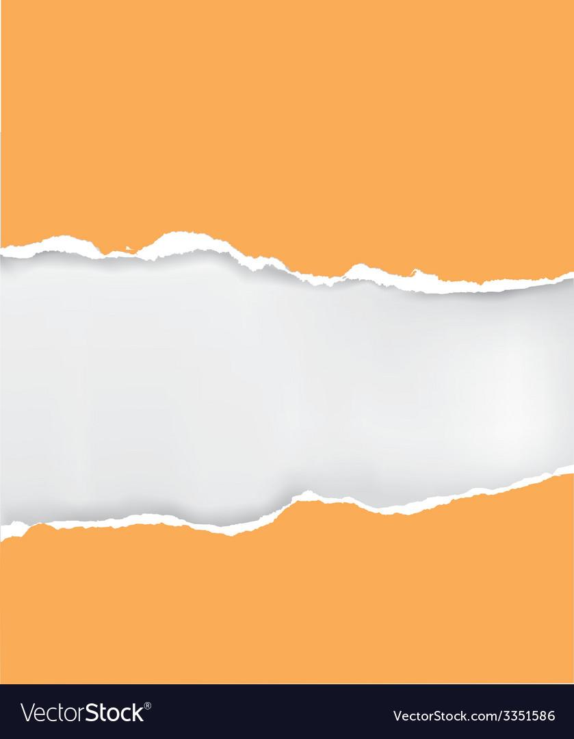 Orange ripped paper