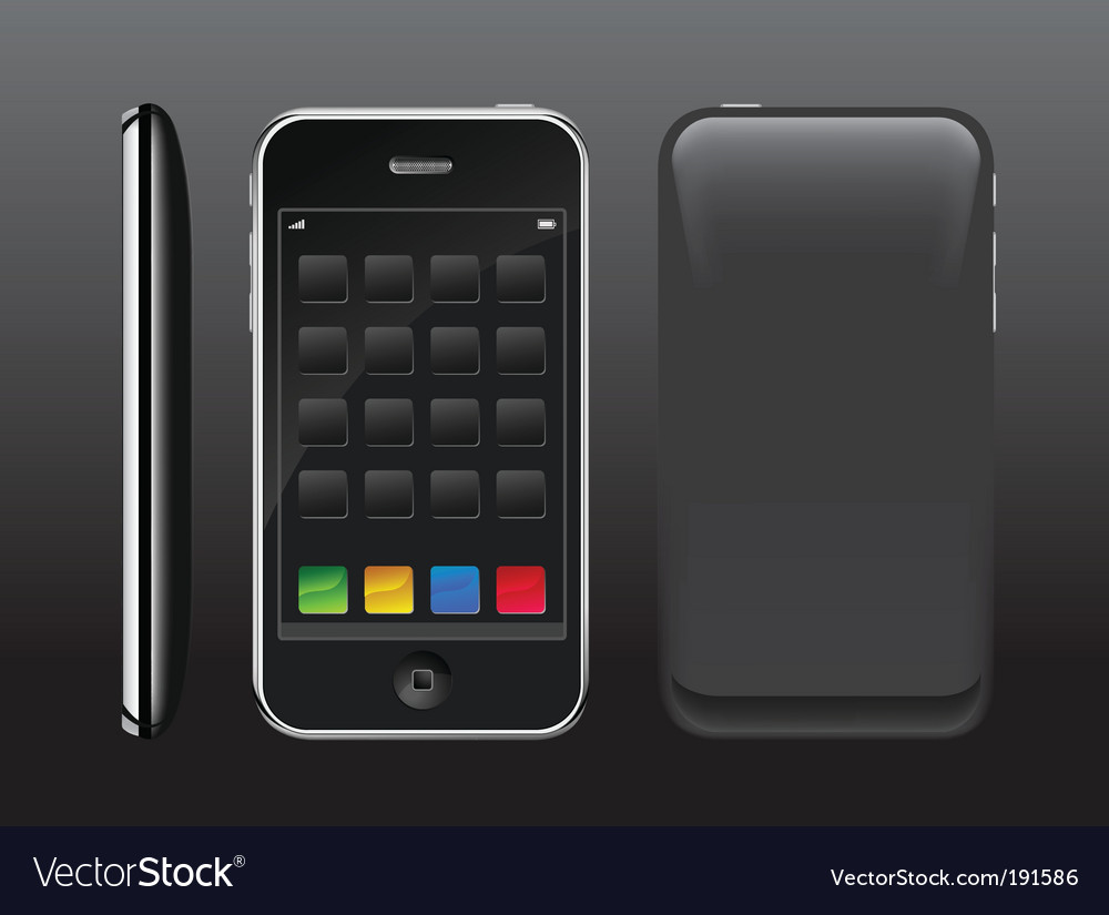 Smart phone with color buttons