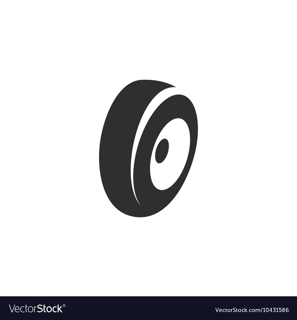 Tire icon isolated on white background