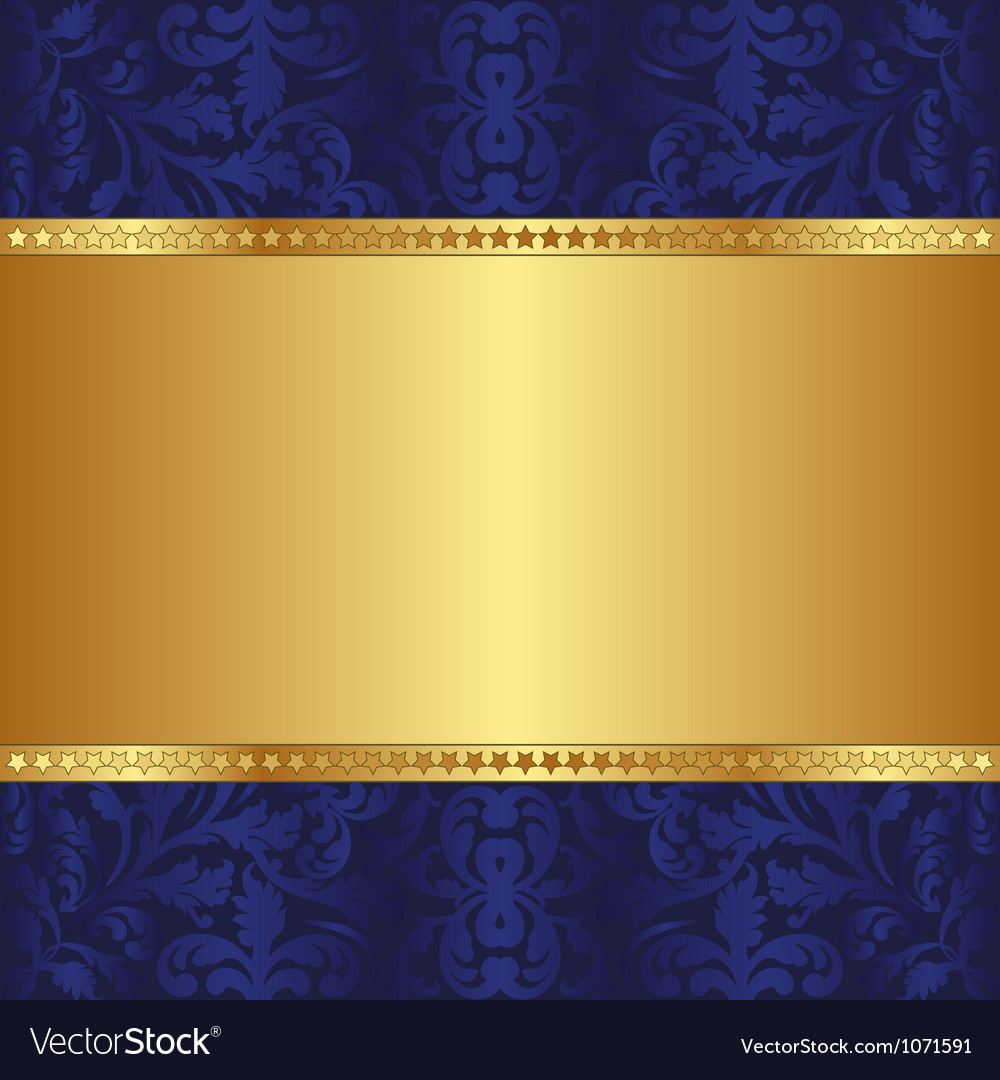 blue and gold background royalty free vector image. Black Bedroom Furniture Sets. Home Design Ideas