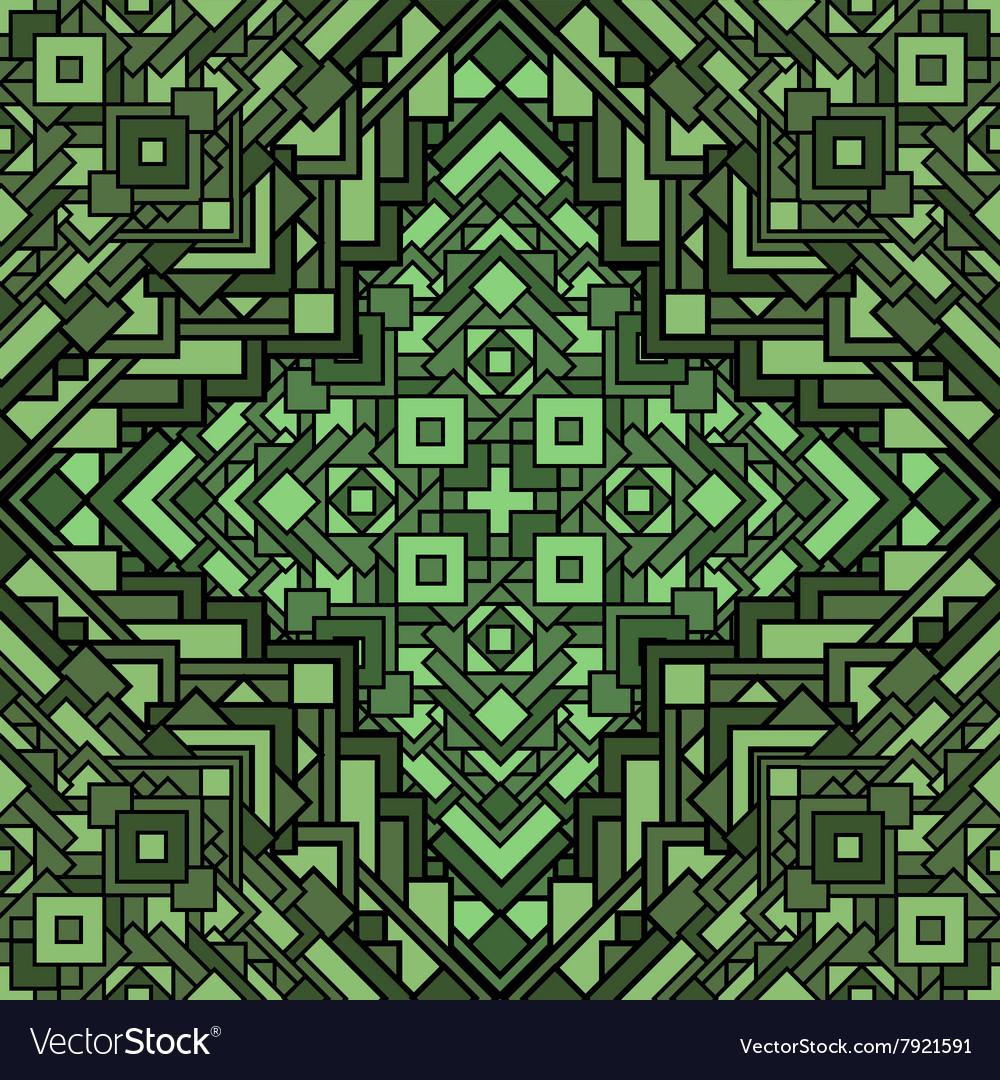 Ethnic seamless mosaic pattern