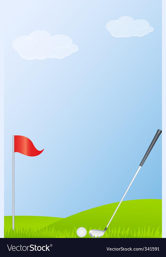 golf ball vector. Golf Stick And Golf Ball