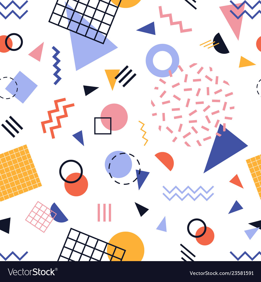 Modern seamless pattern with colorful lines and