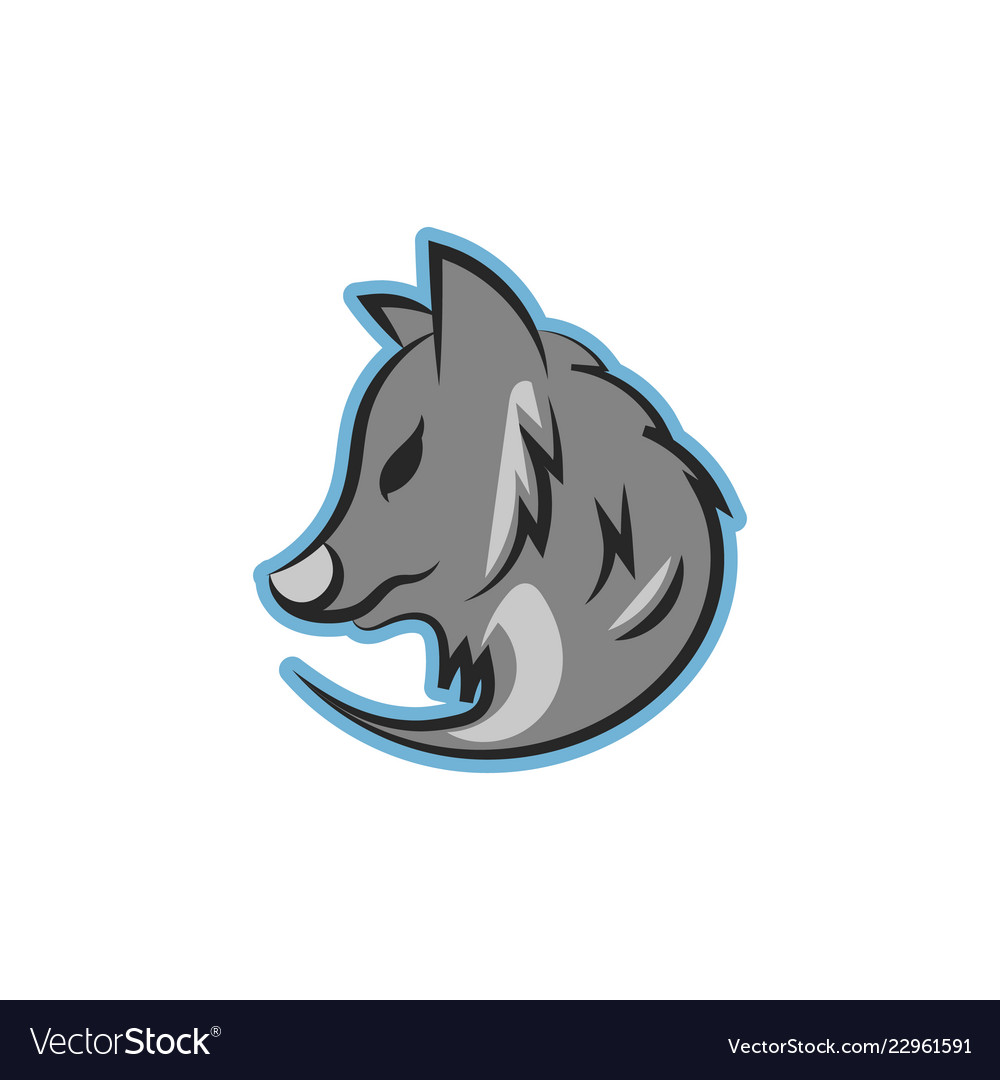 wolf logo icon design royalty free vector image