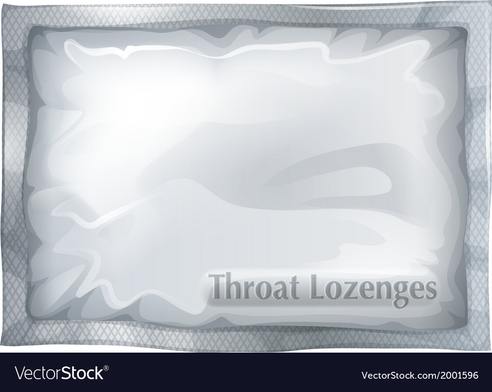 A pack of throat lozenges vector image