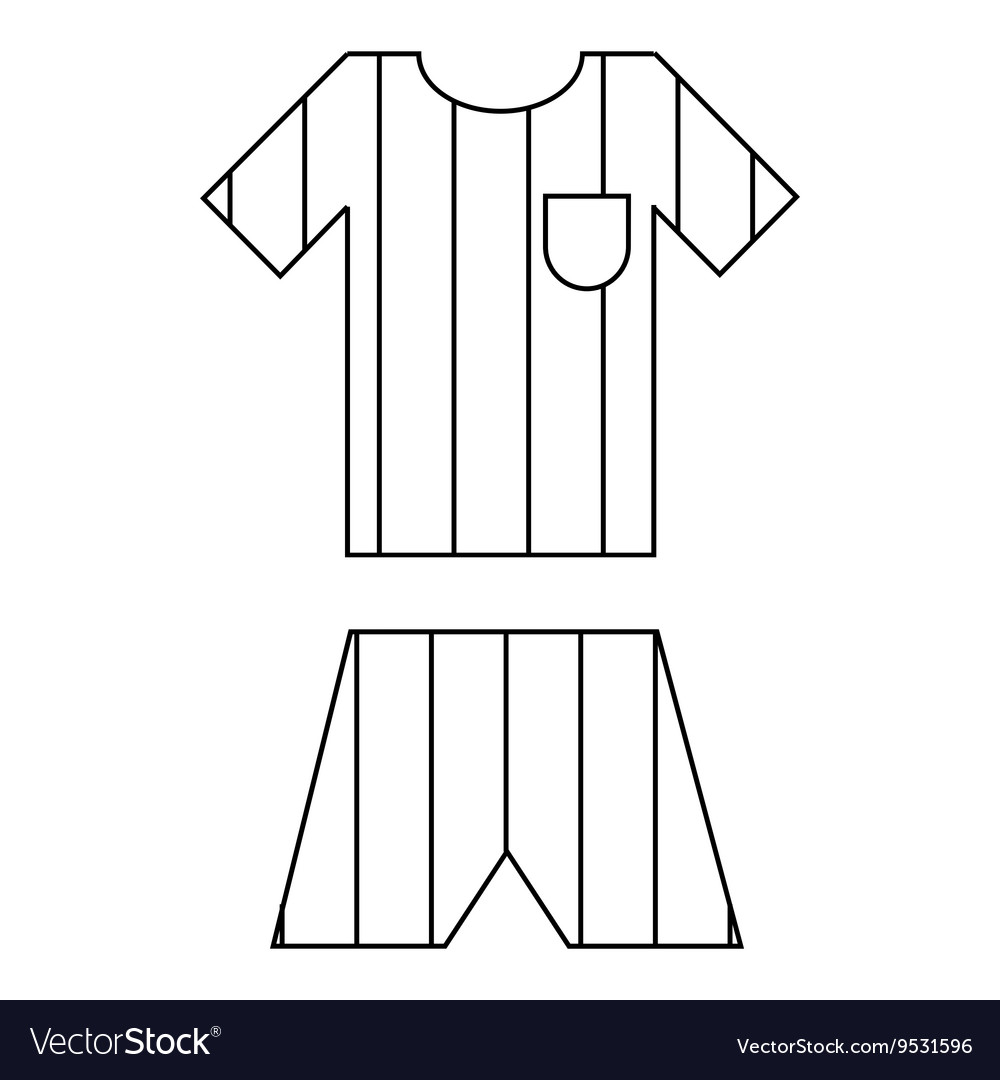 Argentina soccer team uniform icon outline style vector image