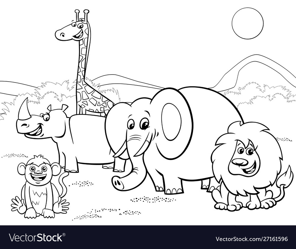 Baby Safari Animals Coloring Pages in 2020 | Cute coloring pages ... | 842x1000