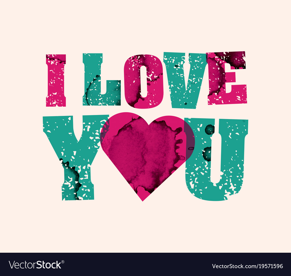 I Love You Concept Stamped Word Art Vector Image