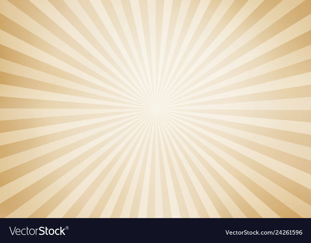 Retro style sunburst and rays comic cartoon