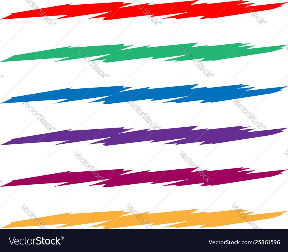 Sketchy sketch angular lines stripes with edgy vector image