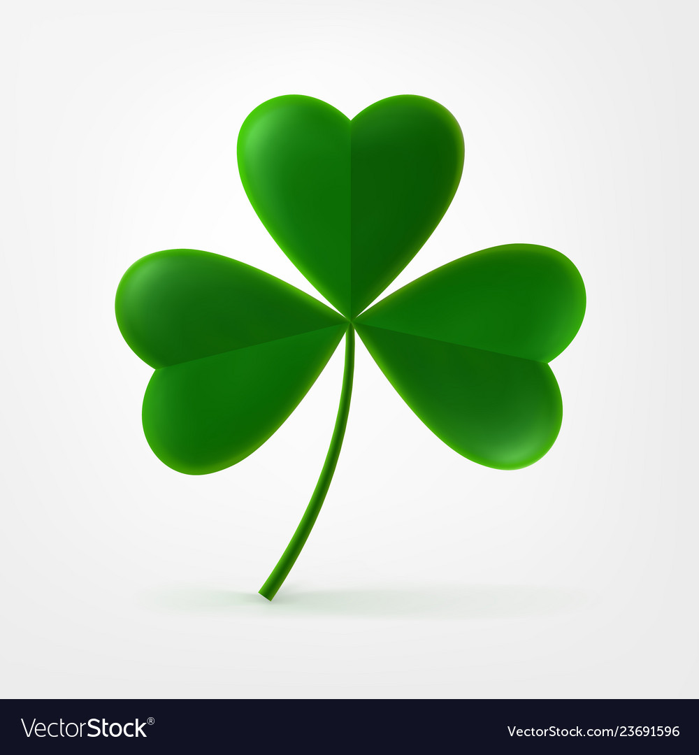 Three Leaf Shamrock Clover Icon Royalty Free Vector Image