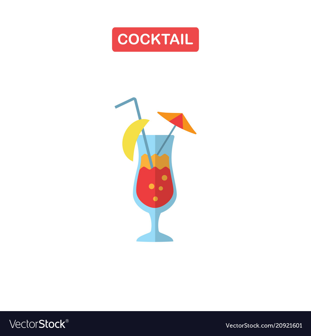 Cocktail glass with drink icons for menu web and