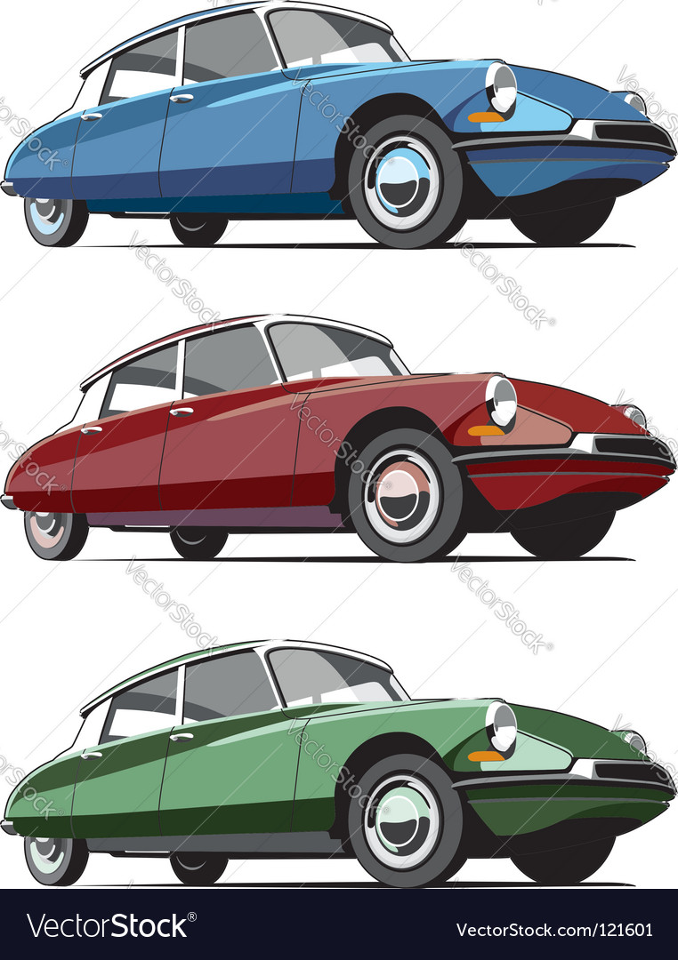 French Cars Icon Set Royalty Free Vector Image Citroen