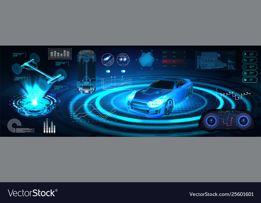 Hologram auto in hud ui style