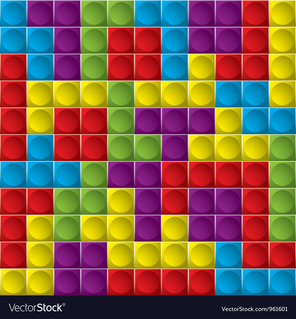 Tetris board background vector image