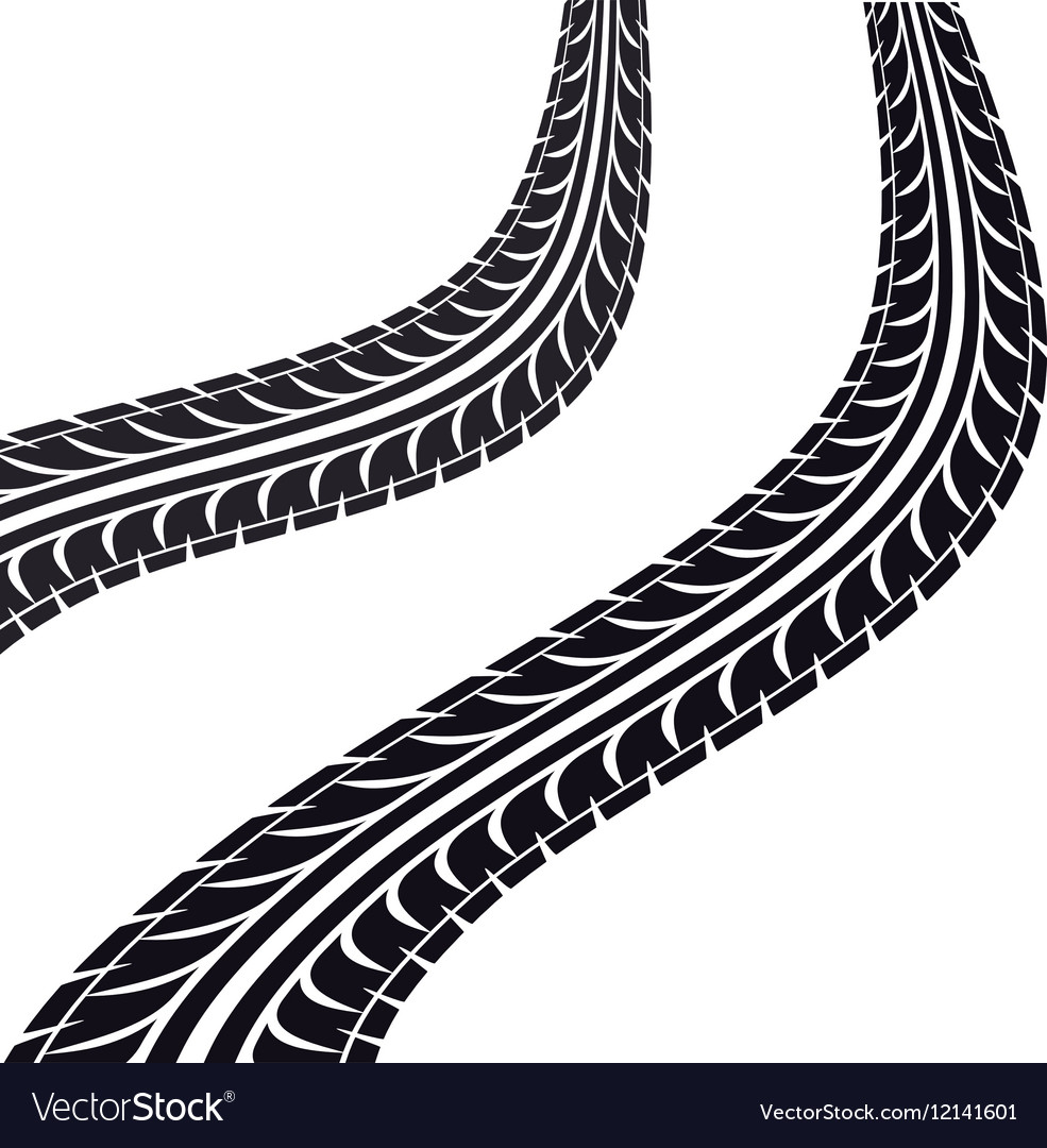 tire tracks isolated icon royalty free vector image rh vectorstock com tire tread vector brush tire tread vector graphic