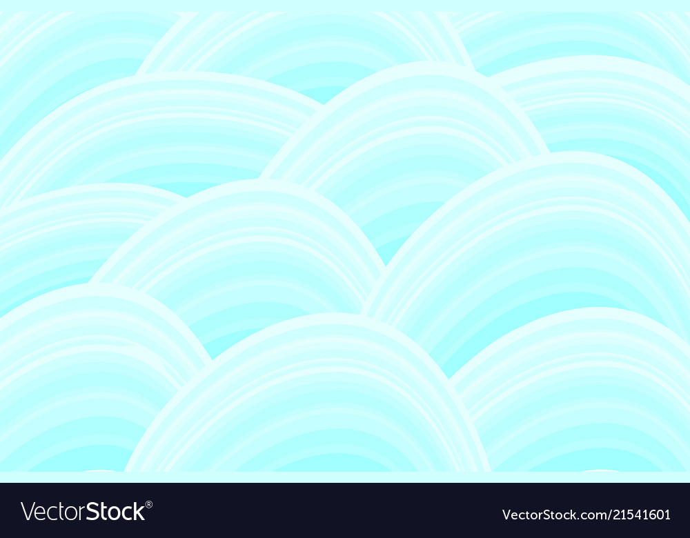 Waves pattern in sea green shades background