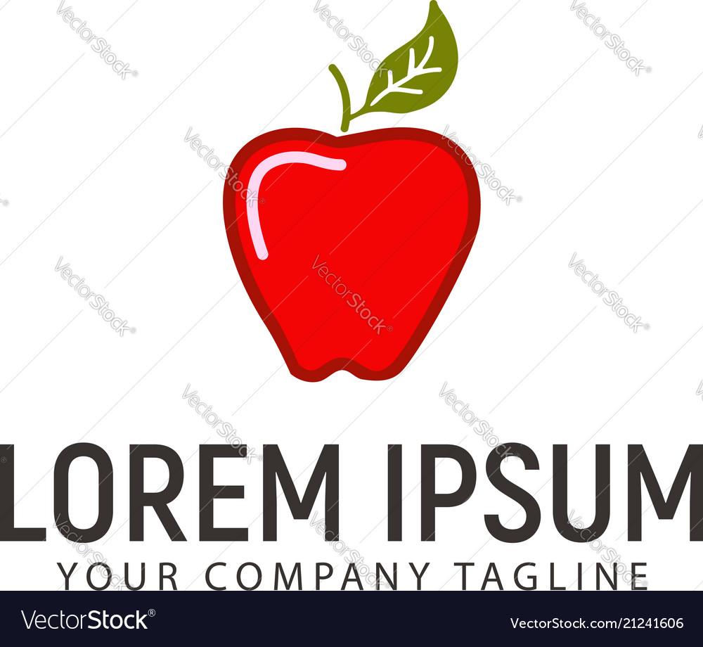 Apple logo design concept template