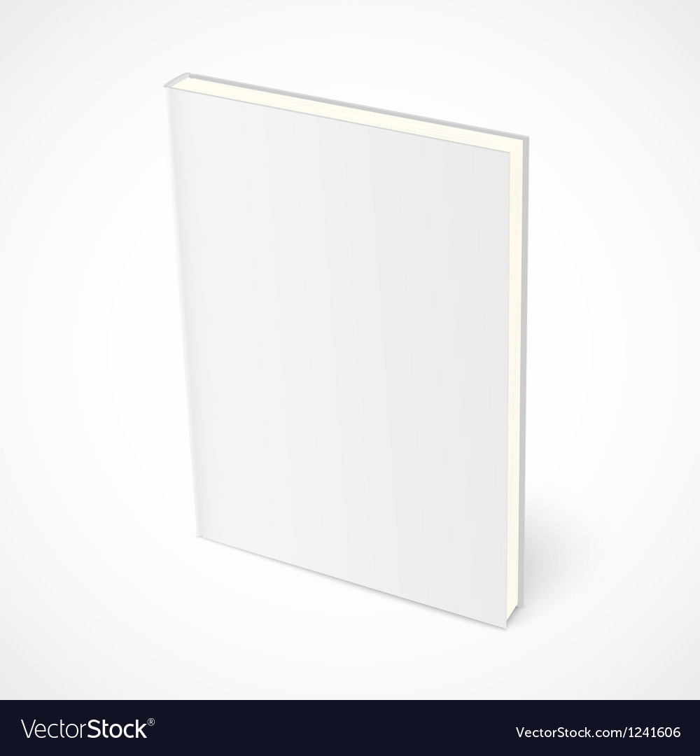 Empty standing book with white cover vector image
