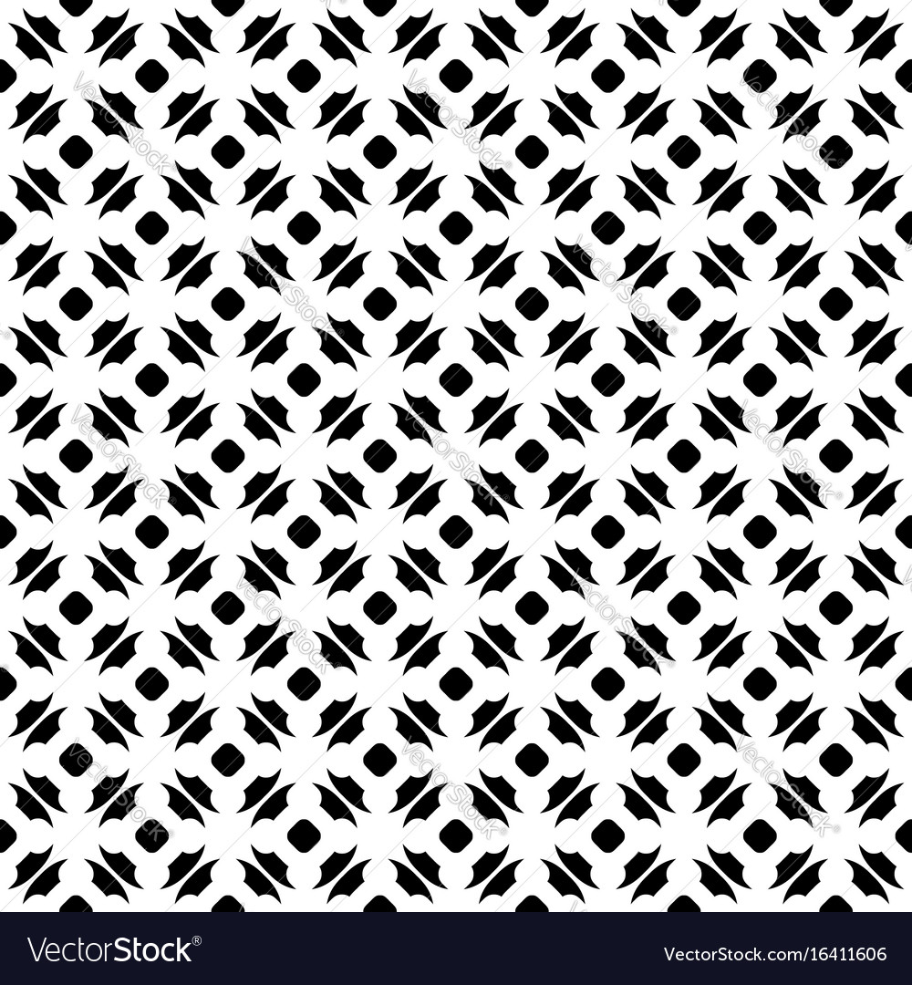 Monochrome seamless pattern ornate texture vector image