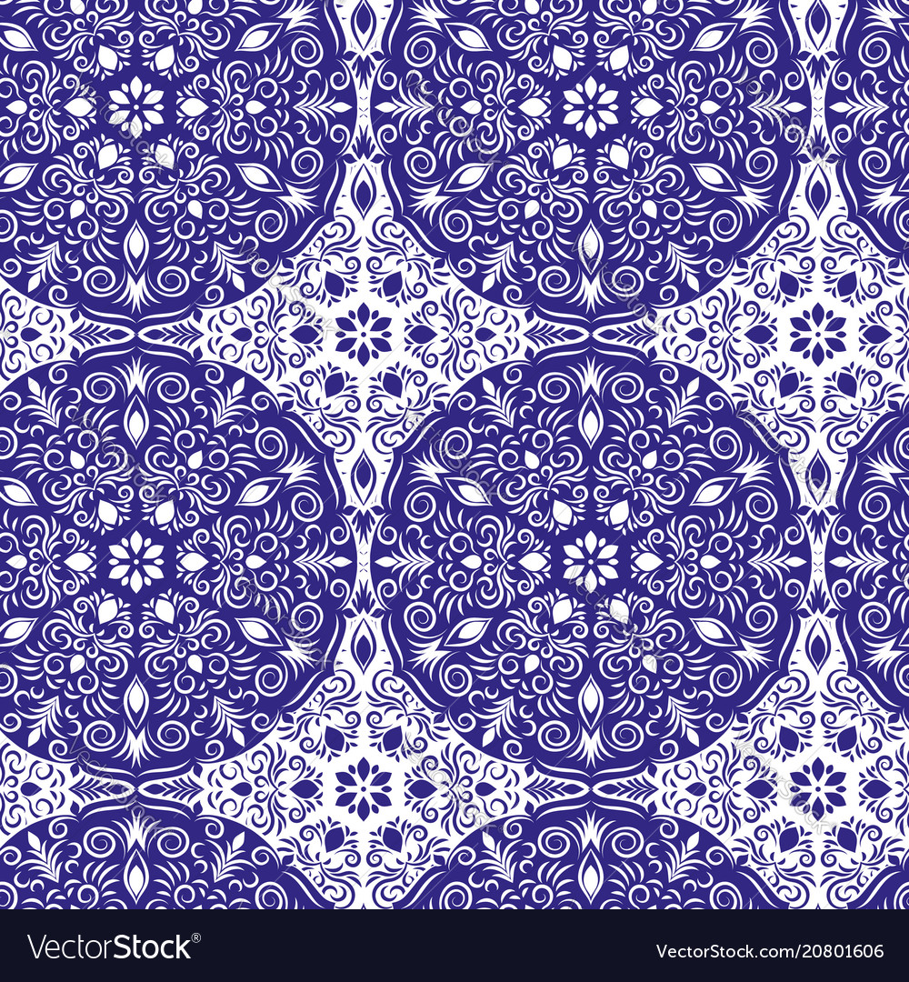 Seamless mandala pattern vintage decorative