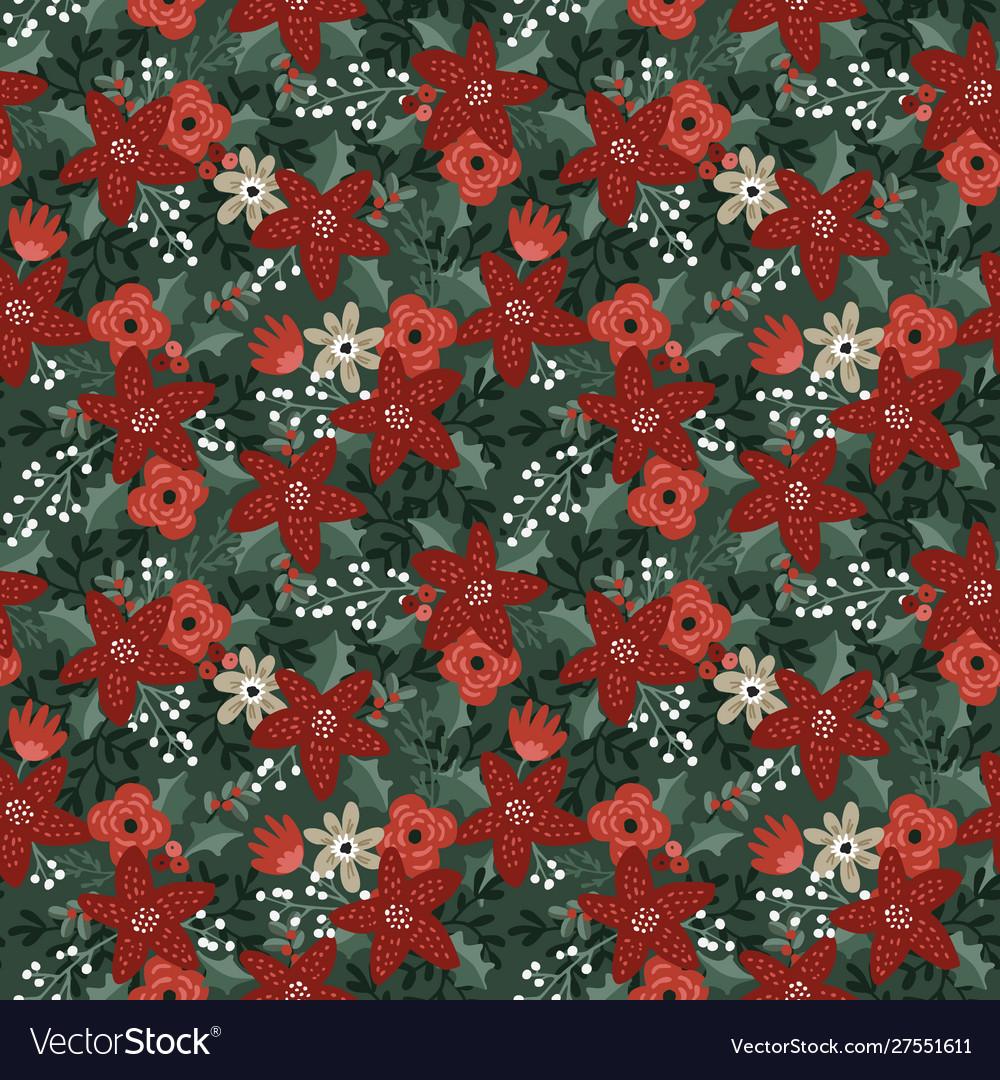Beautiful christmas seamless pattern
